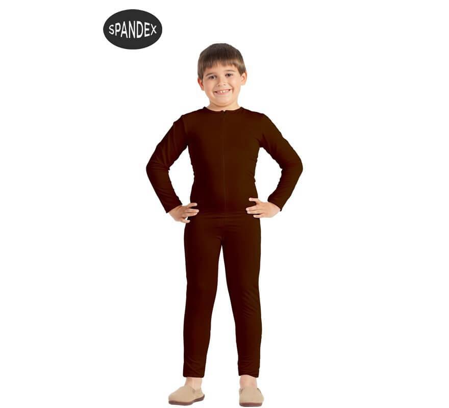 Mono interior de spandex Marrón para niños