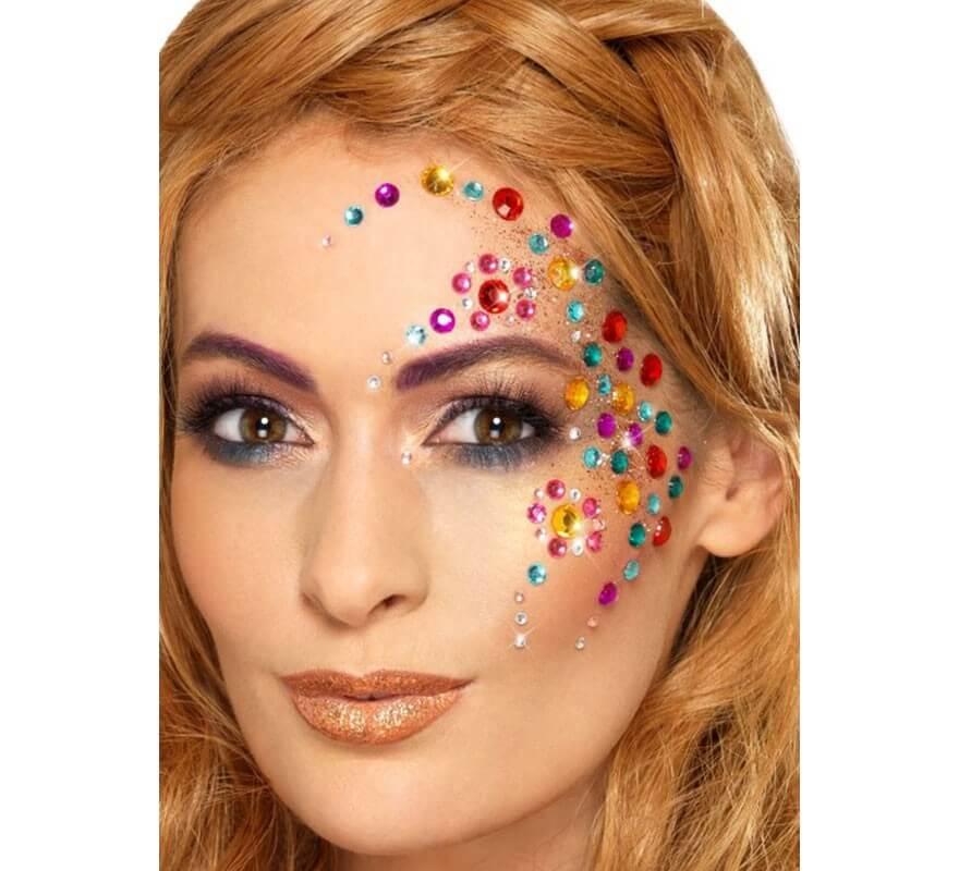 Pack de 100 Joyas Faciales Multicolores