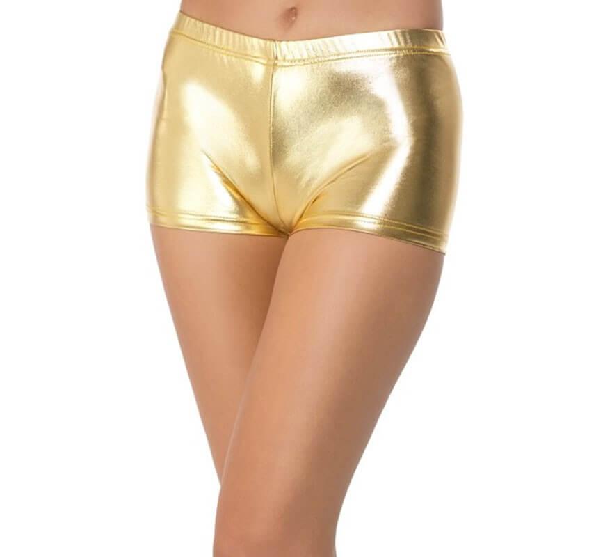 722ff10ce0 Pantalón Corto Dorado para mujer