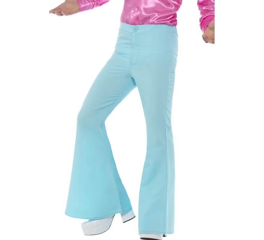 Pantalon à Pattes D éléphant Bleu Pour Homme