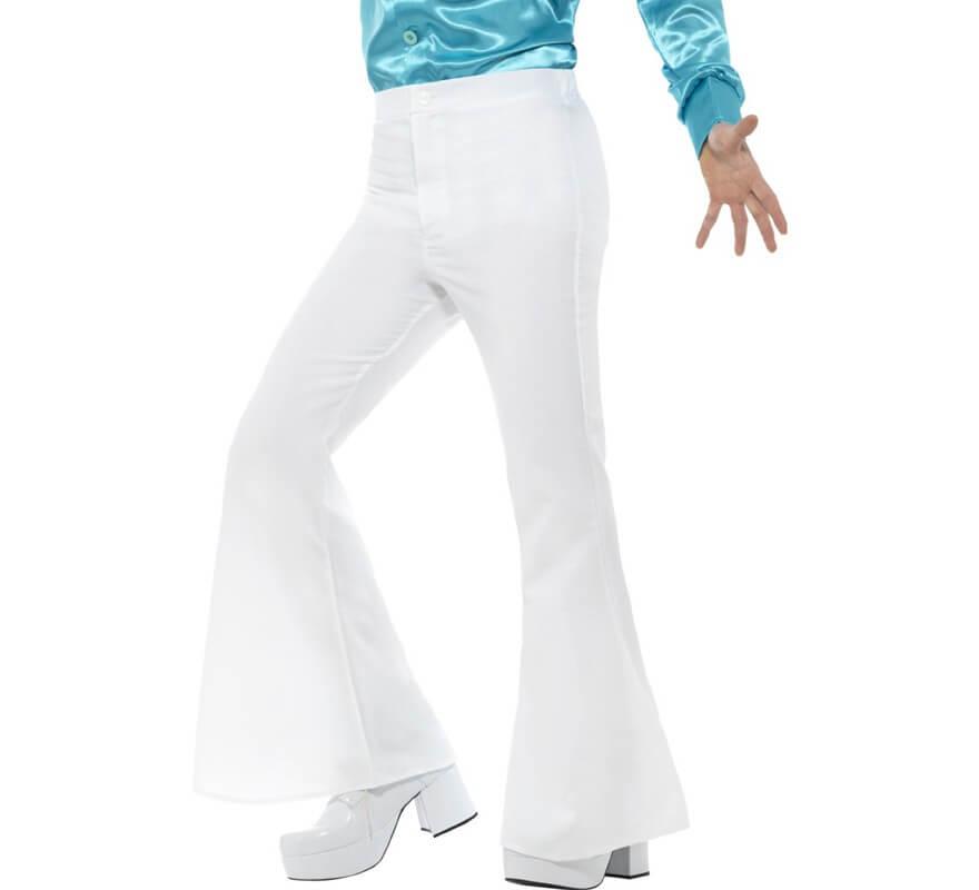 Pantalones De Campana Blancos Para Hombre