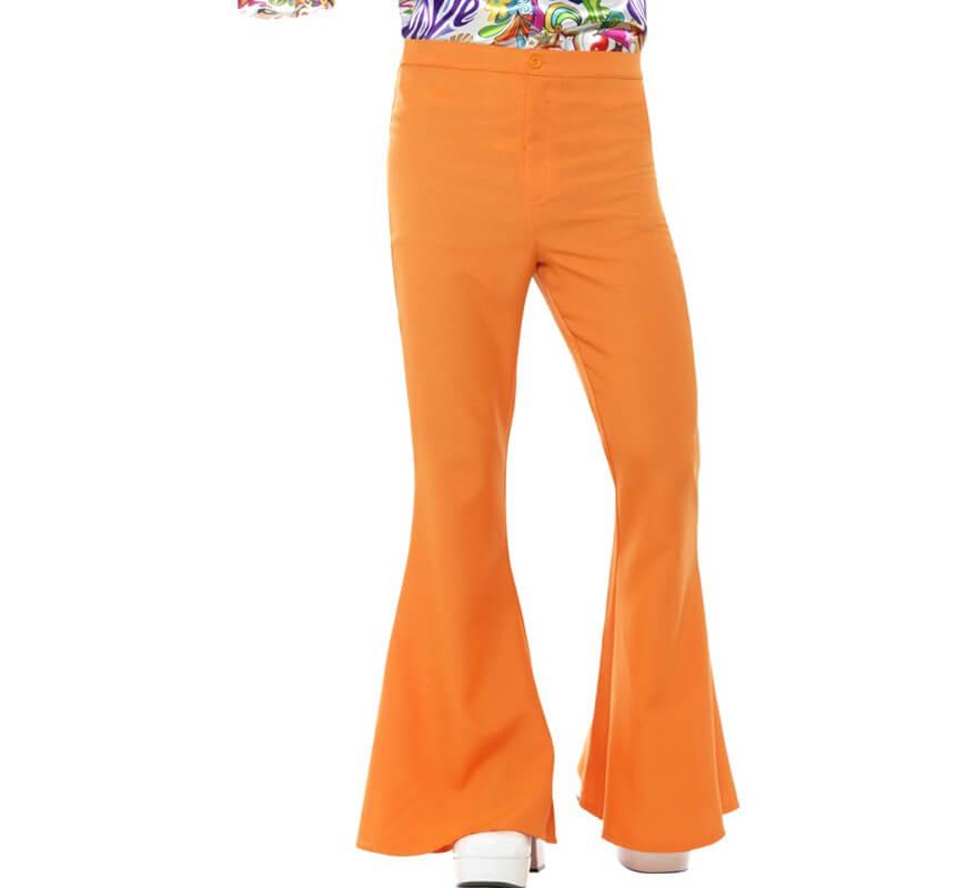 Pantalones De Campana Naranja Anos 60 Para Hombre
