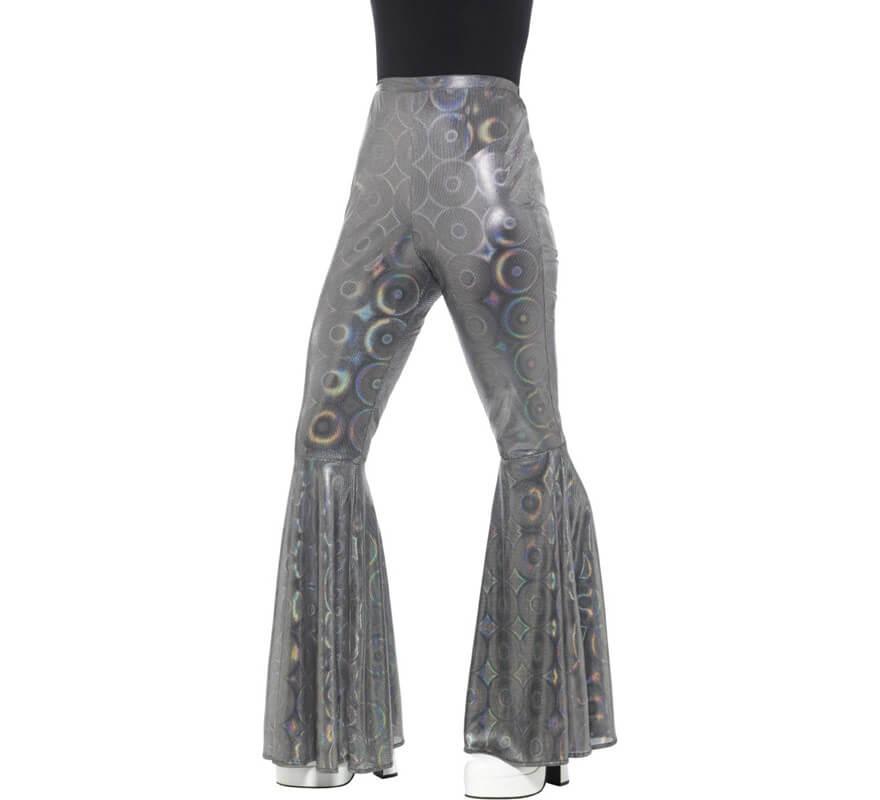 el más nuevo e9f39 2e2f2 Pantalones de Campana Plateados para mujer