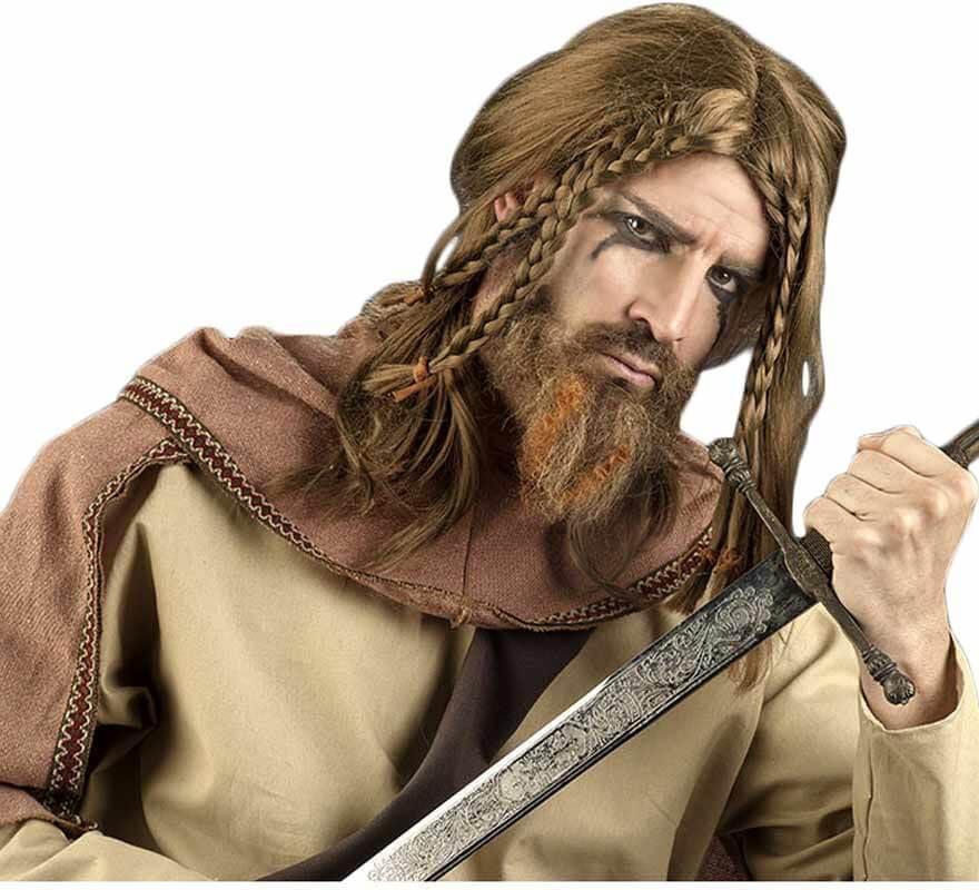 Perruque de Viking avec tresses