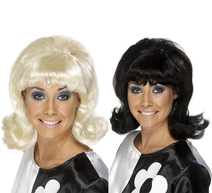 d0b02540509a Peluca Mod de los Años 60 Levantado para Mujer en varios colores