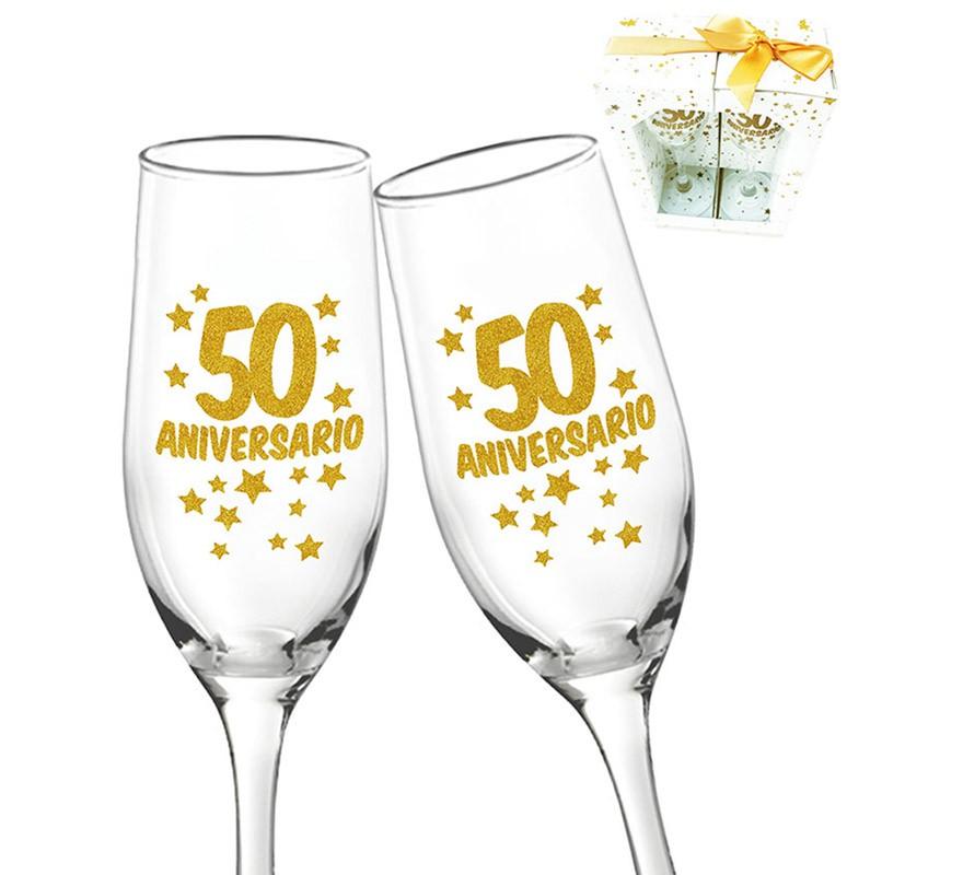 2 Copas de 50 Aniversario o Bodas de Oro-B
