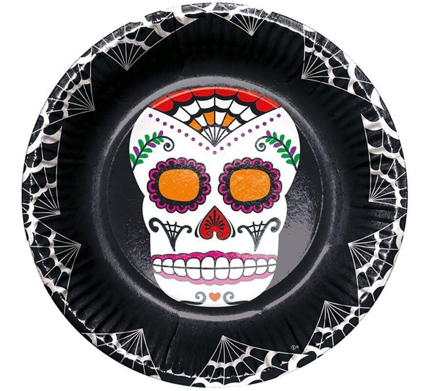 6 Cuencos del Día de los Muertos 15 cm-B