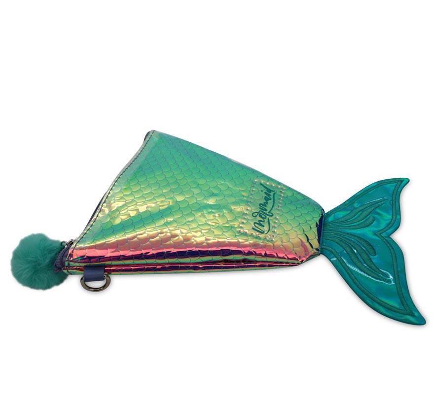Bolsa de Ombro Mermaid Tail 16x22x1 cm-B