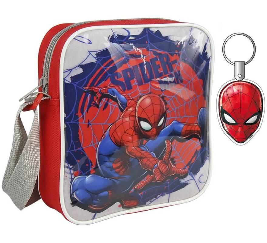 Bolso Bandolera de Spiderman con llavero 16x19x4 cm-B