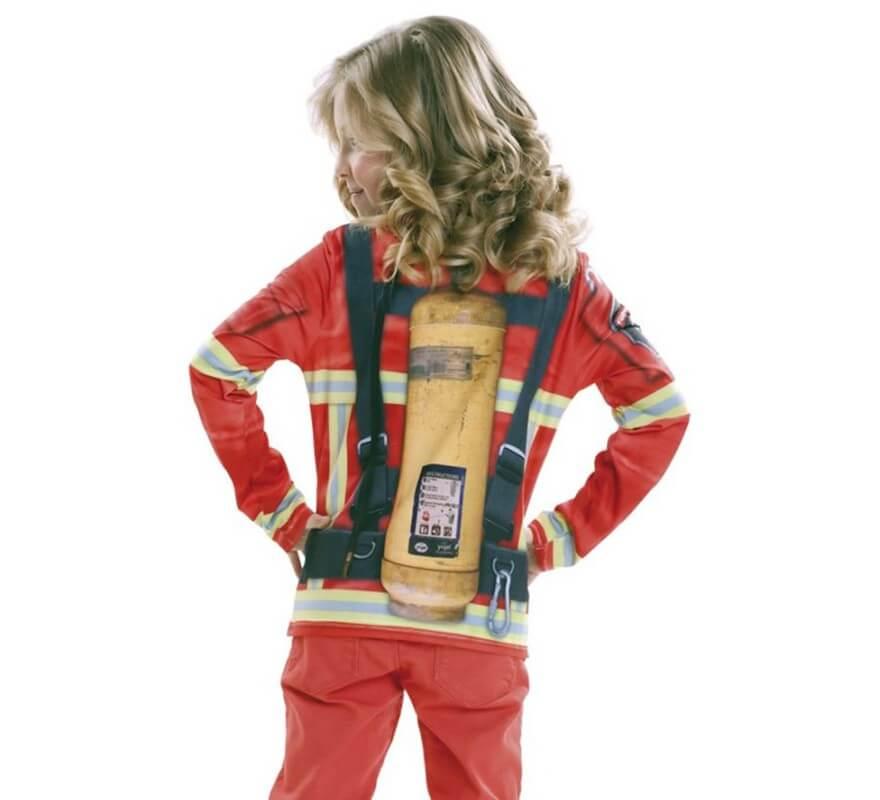 Camiseta disfraz Bombero o Bombera para niños-B