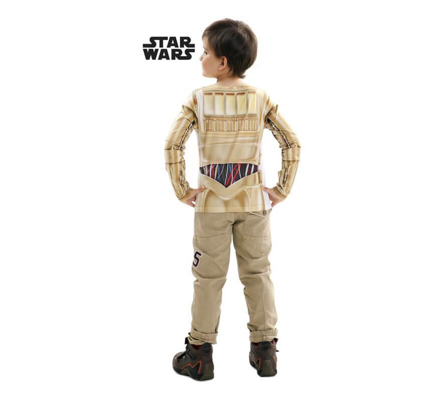 Camiseta disfraz C-3PO de Star Wars para niño-B