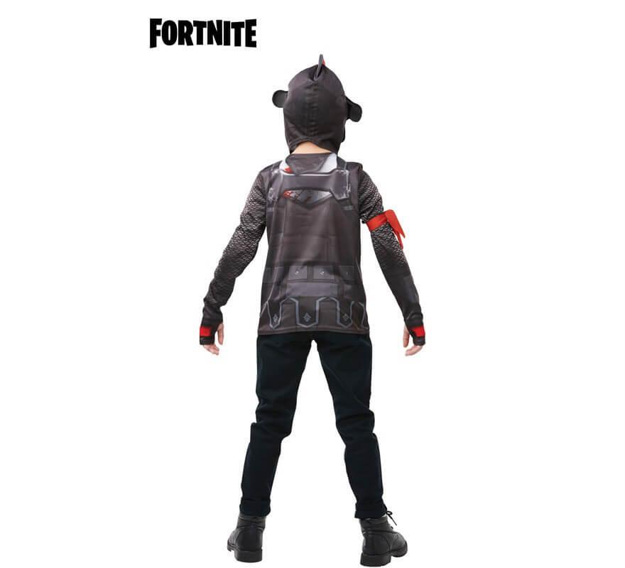 Camiseta Disfraz con Capucha Black Knight Fortnite para niño y adolescente-B