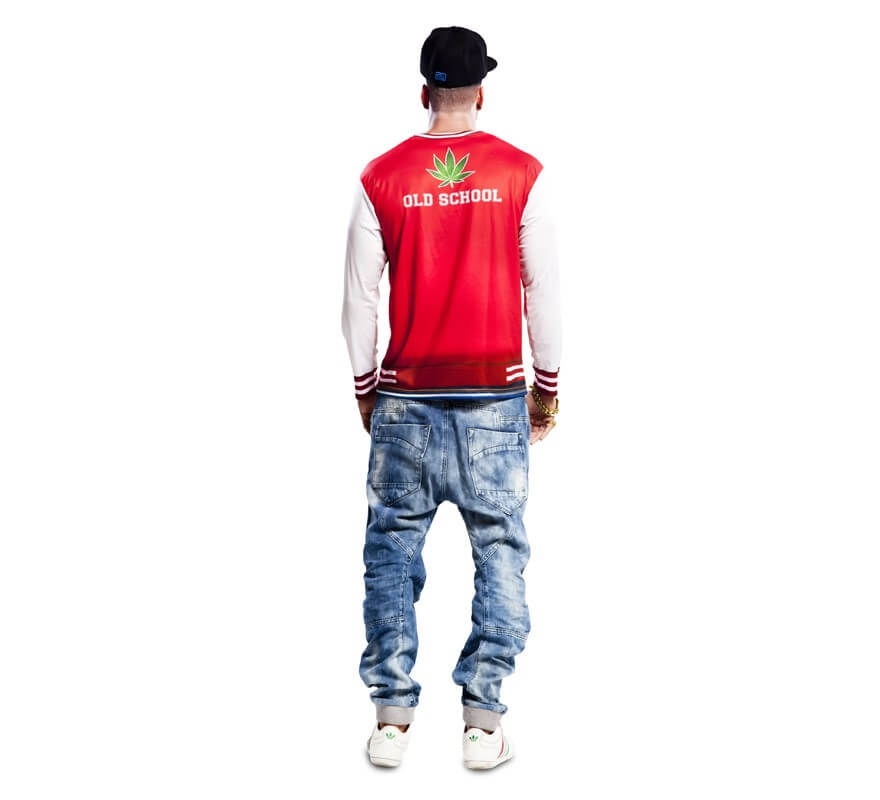 Camiseta disfraz de rapero para Hombre-B