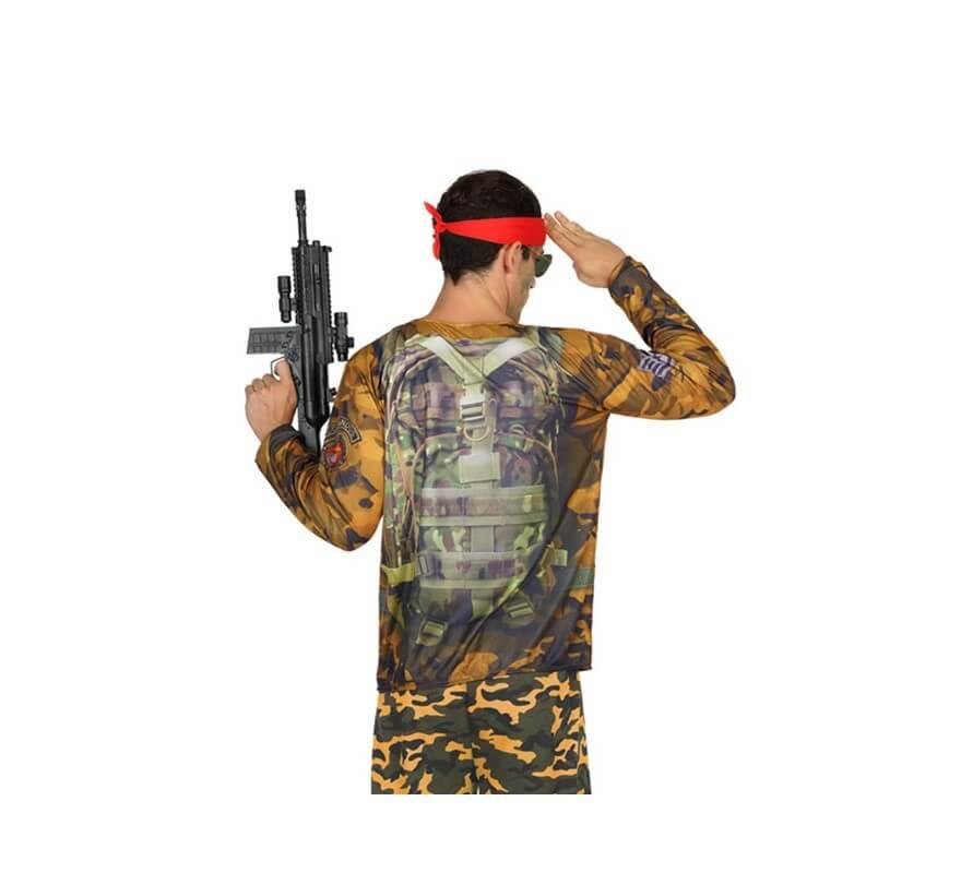 Camiseta disfraz de Soldado Camuflaje para hombre-B