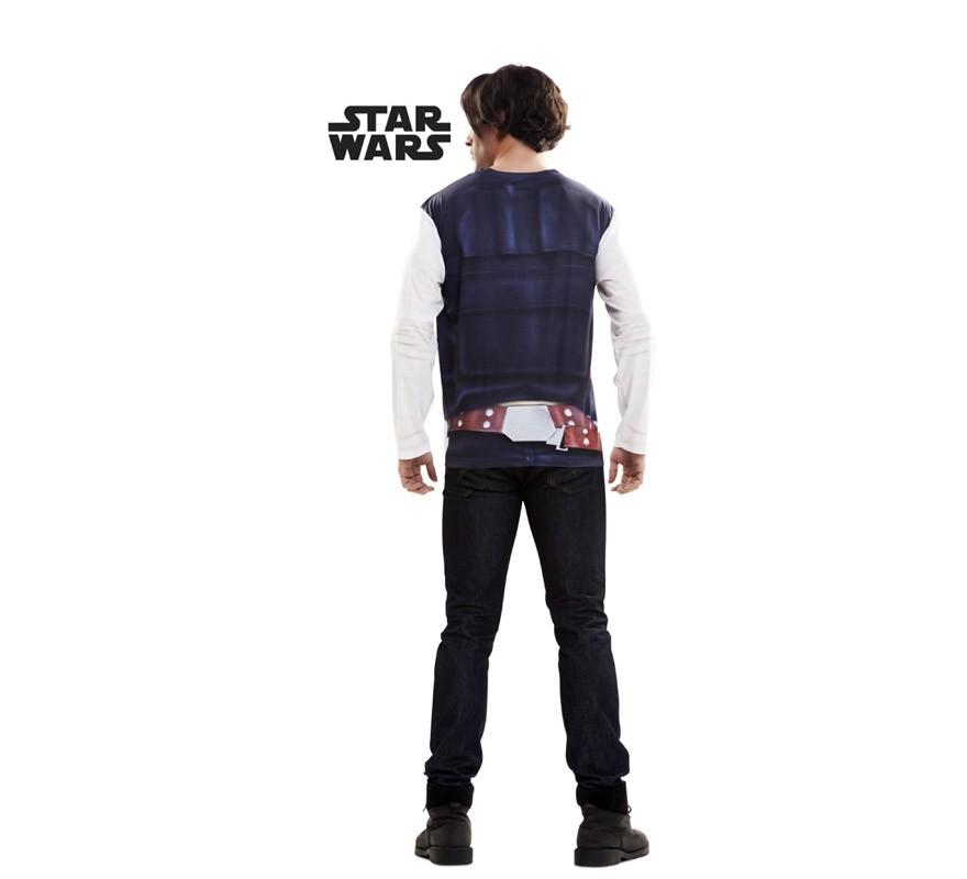 Camiseta disfraz Han Solo de Star Wars para hombre-B