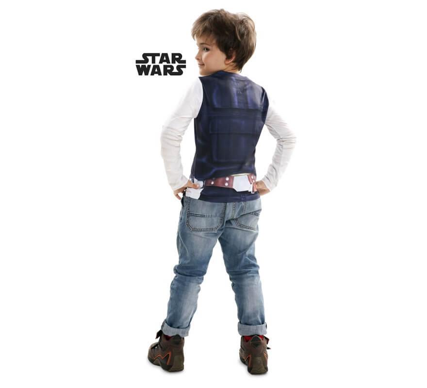 Camiseta disfraz Han Solo de Star Wars para niño-B