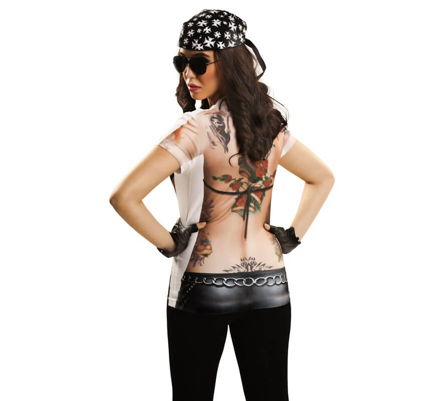 Camiseta disfraz motera para mujer-B