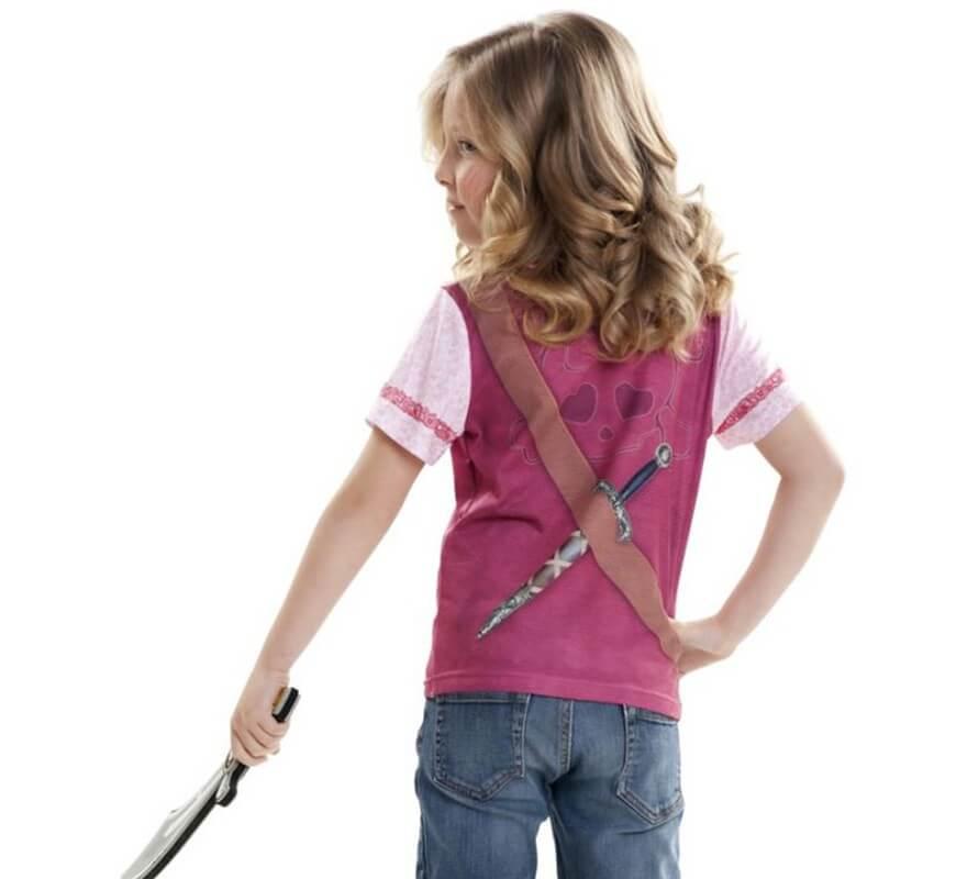 Camiseta disfraz Pirata para niña-B