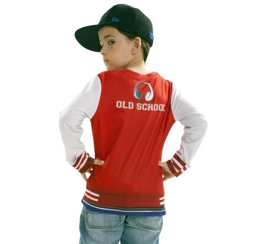 Camiseta disfraz Rapero para niño-B