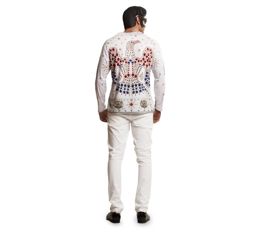 Camiseta disfraz rey del rock para hombre-B