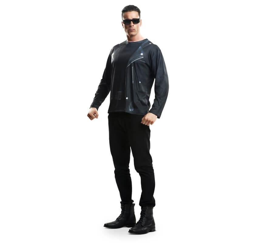 Camiseta disfraz robot terminador para Hombre-B