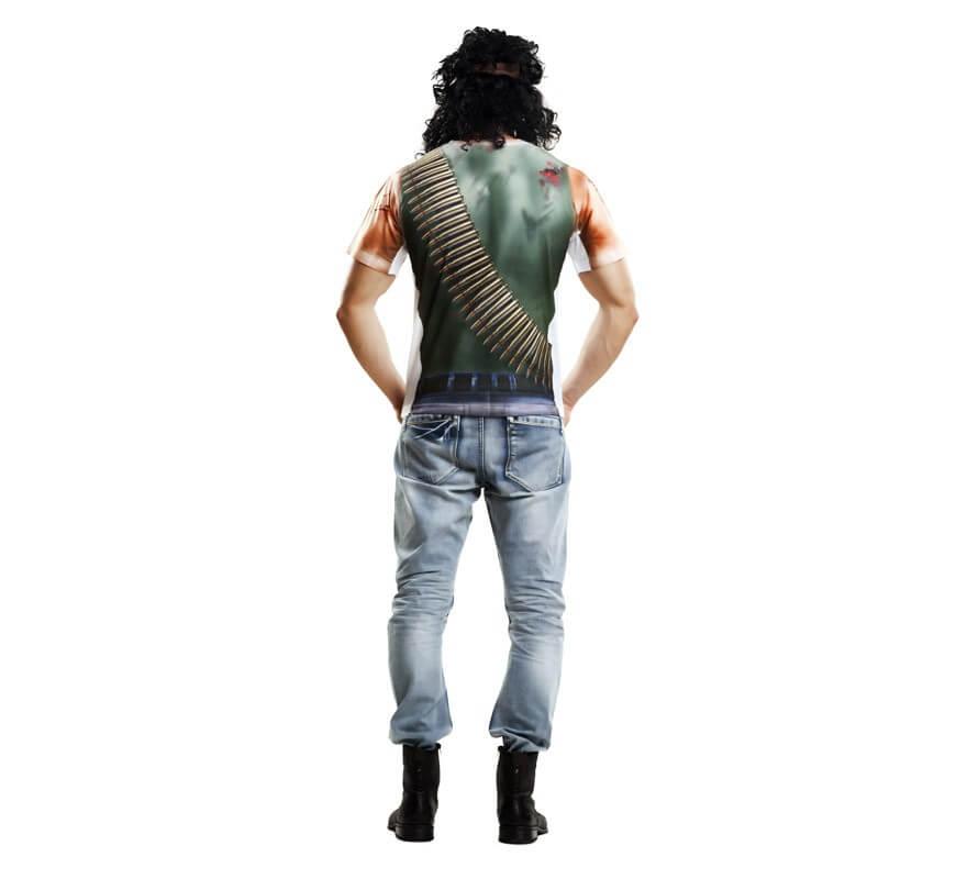 Camiseta disfraz soldado para hombre-B