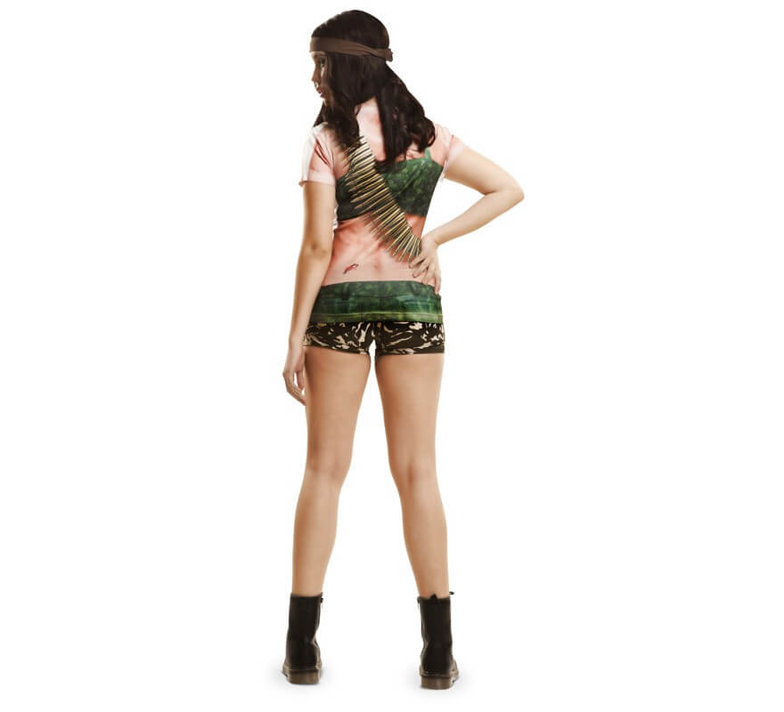 Camiseta disfraz soldado para mujer-B