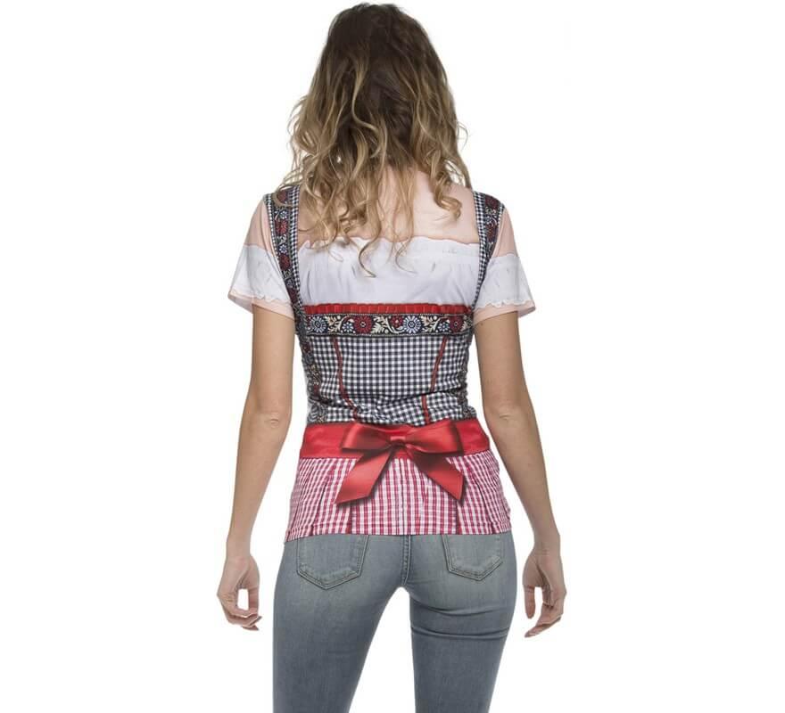 Camiseta disfraz Tirolesa Oktoberfest para mujer-B
