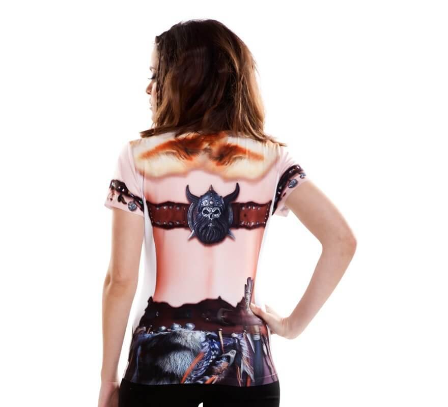 Camiseta disfraz Viking Girl para mujer-B