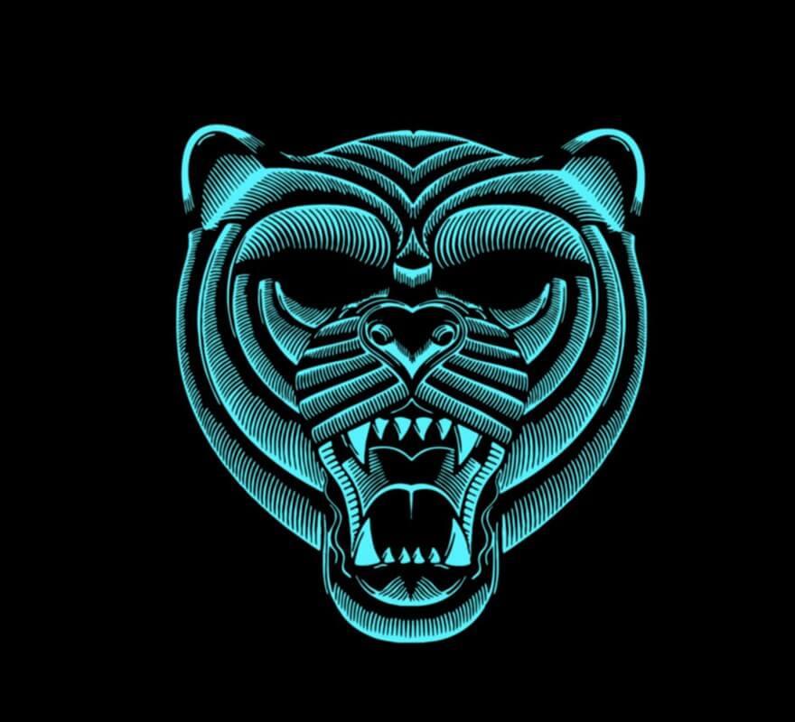 Careta de Tigre iluminación LED-B