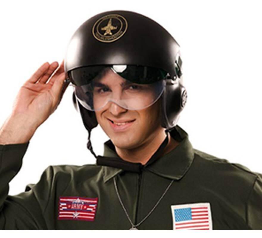 Casco de Piloto aviación con visera-B