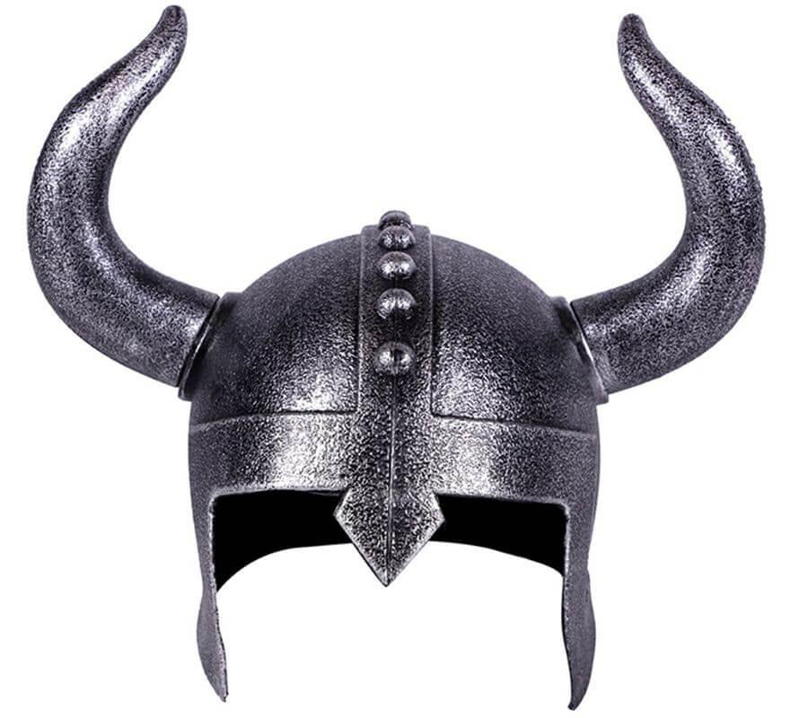 Casco Plateado de Vikingo-B
