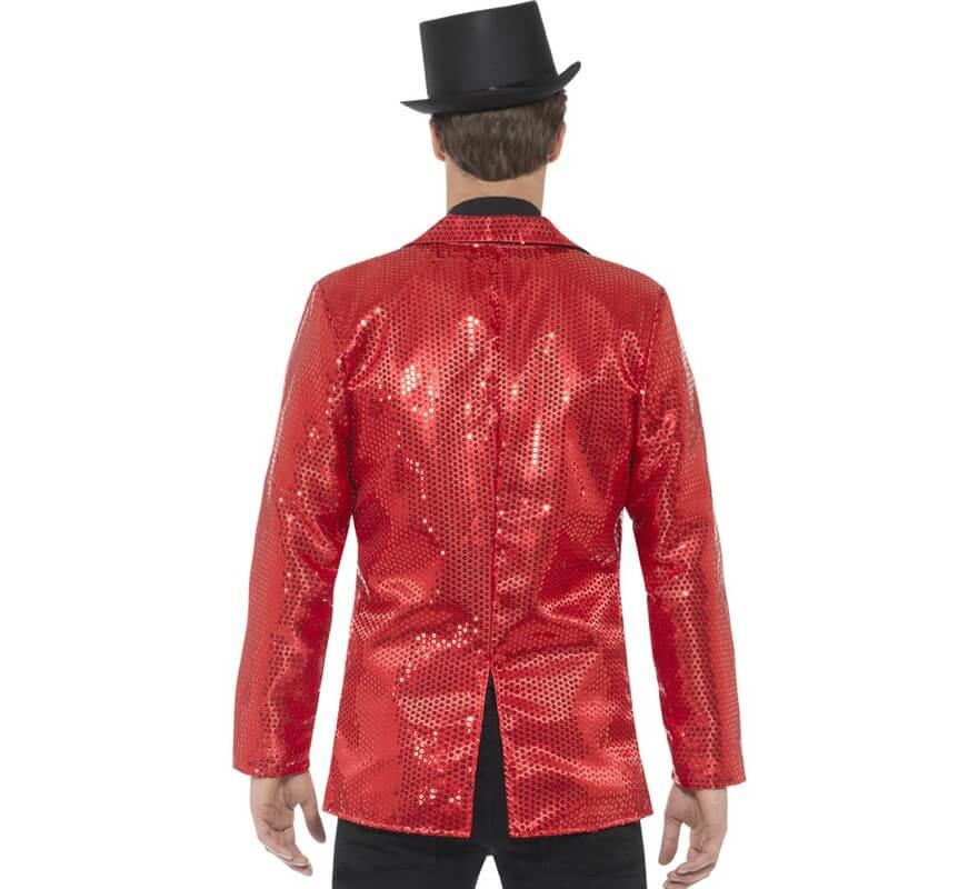 hermosa en color forma elegante precios de remate Chaqueta de Lentejuelas Roja para hombre