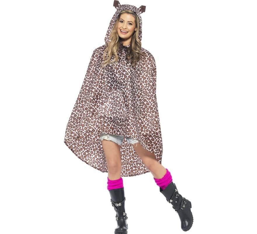Chubasquero Party Poncho Leopardo para adulto-B