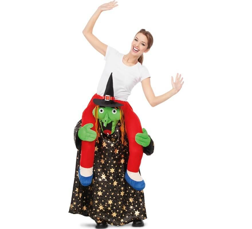 Disfraz a hombros de Bruja con Estrellas para adultos-B