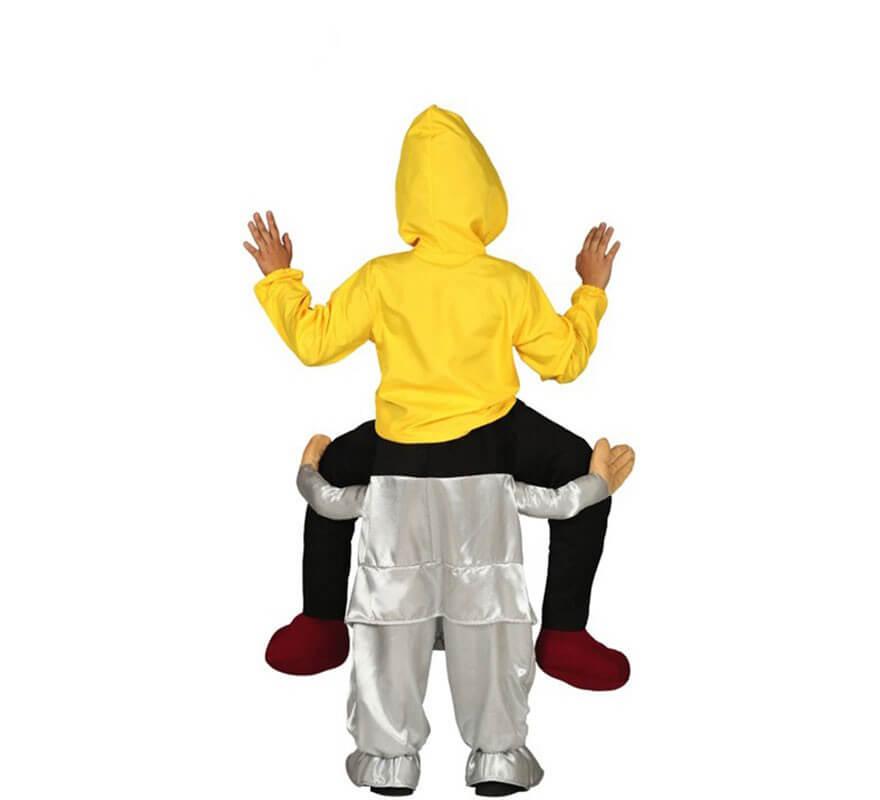 Disfraz a hombros de Payaso del miedo para niños-B