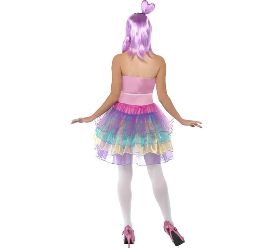 Disfraz Candy de Reina del Pop para Mujer-B