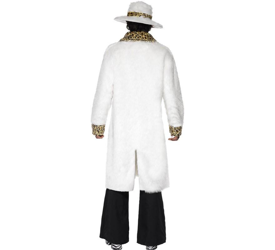 Disfraz Chulo de Los Años 70 Blanco para Hombre talla M-B