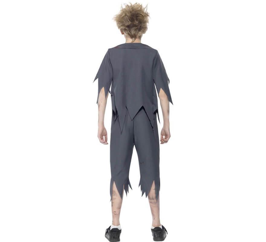 Disfraz Colegial Zombie para Niño-B
