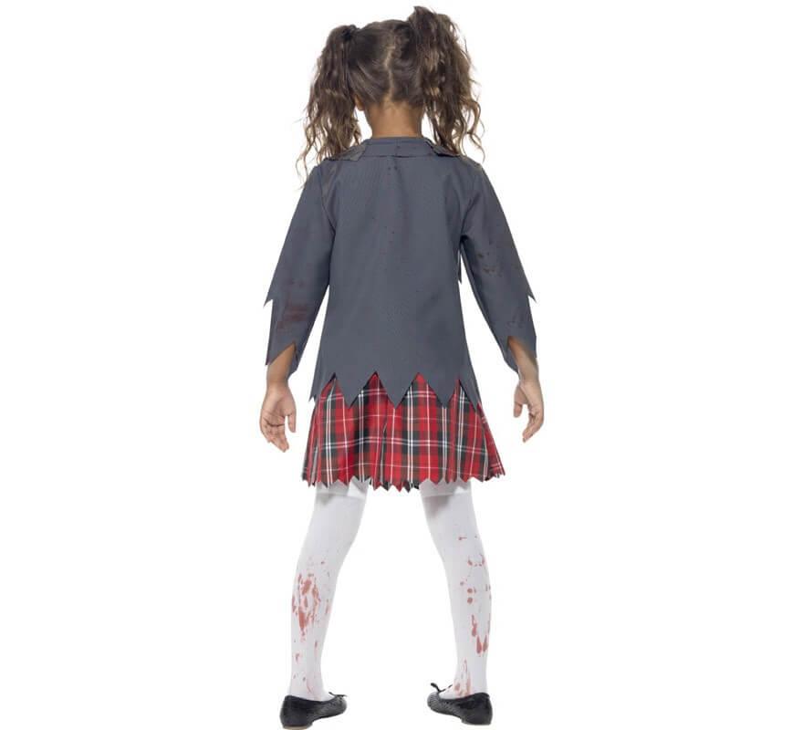 Disfraz Colegiala Zombie para Niña-B