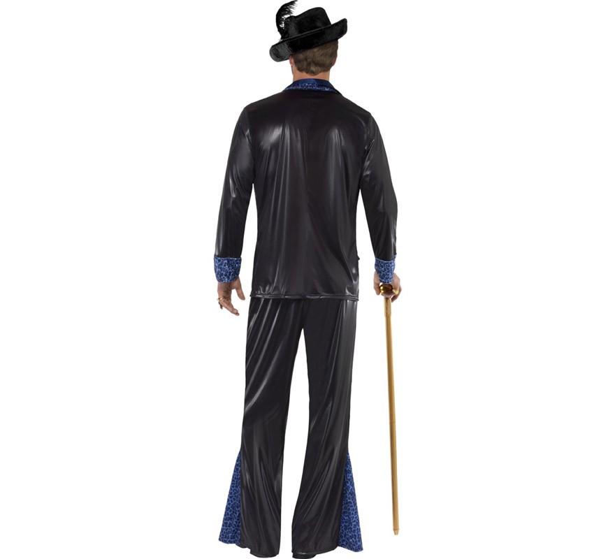 Disfraz Daddy Chulo de Los Años 70 Negro para Hombre-B