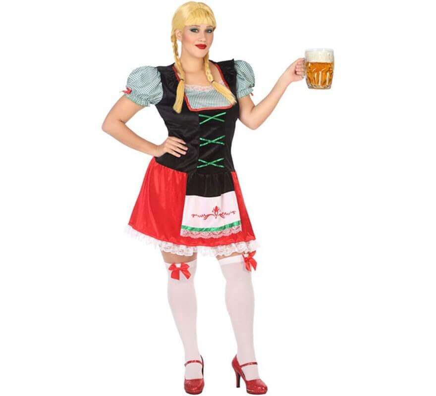 Disfraz de Alemana roja para mujer-B