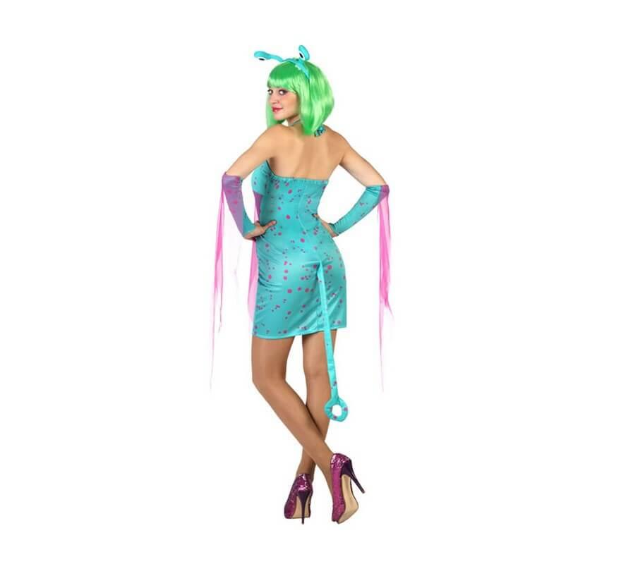 Disfraz de Alien Sexy azul para mujer-B