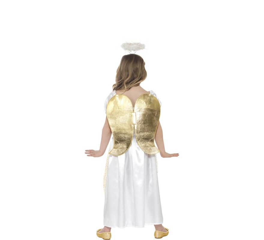 Disfraz de Ángel Blanco y Dorado para niña-B