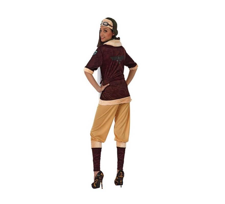 Disfraz de Aviadora de Época para mujer-B