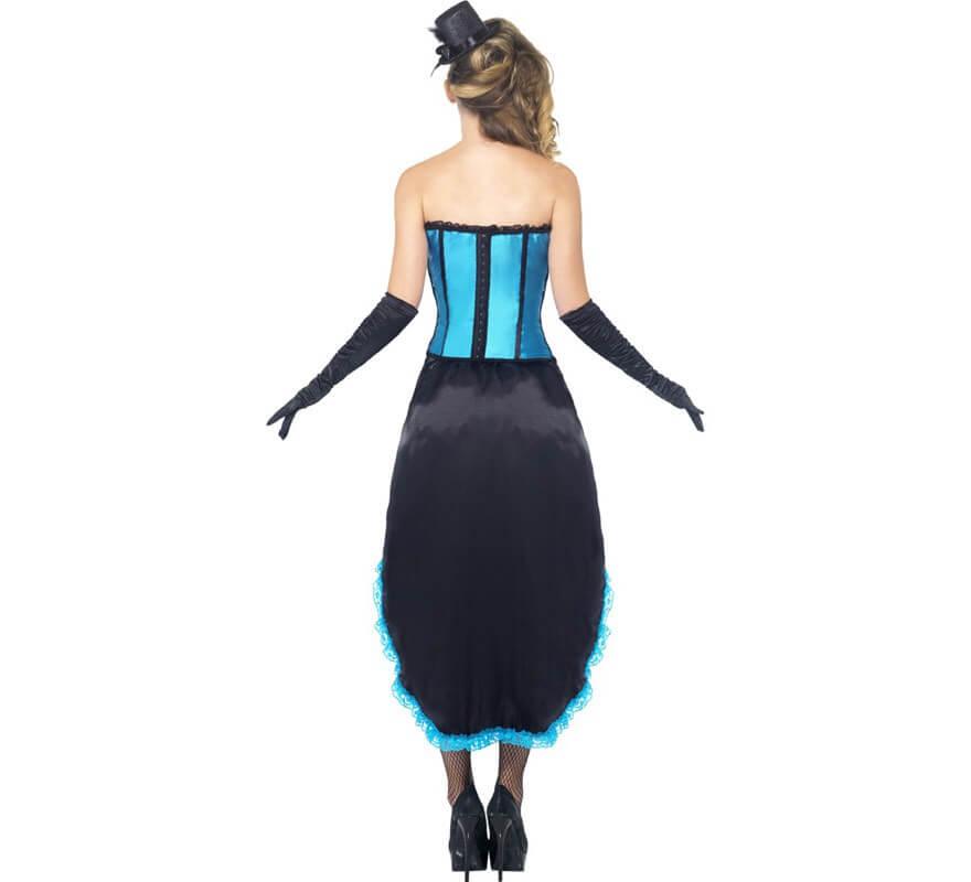 Disfraz de Bailarina de Burlesque Azul para Mujer-B