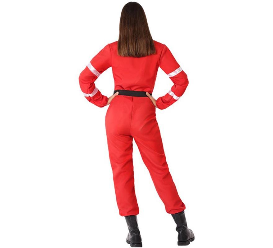 Disfraz de Bombera Rojo para mujer-B