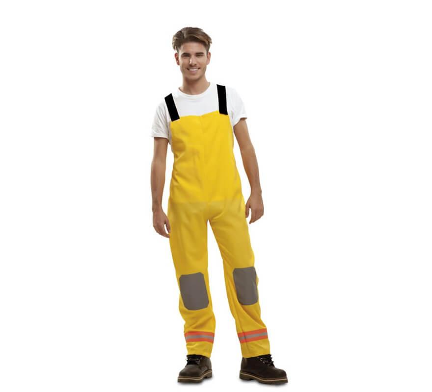 Disfraz de Bombero amarillo para hombre-B