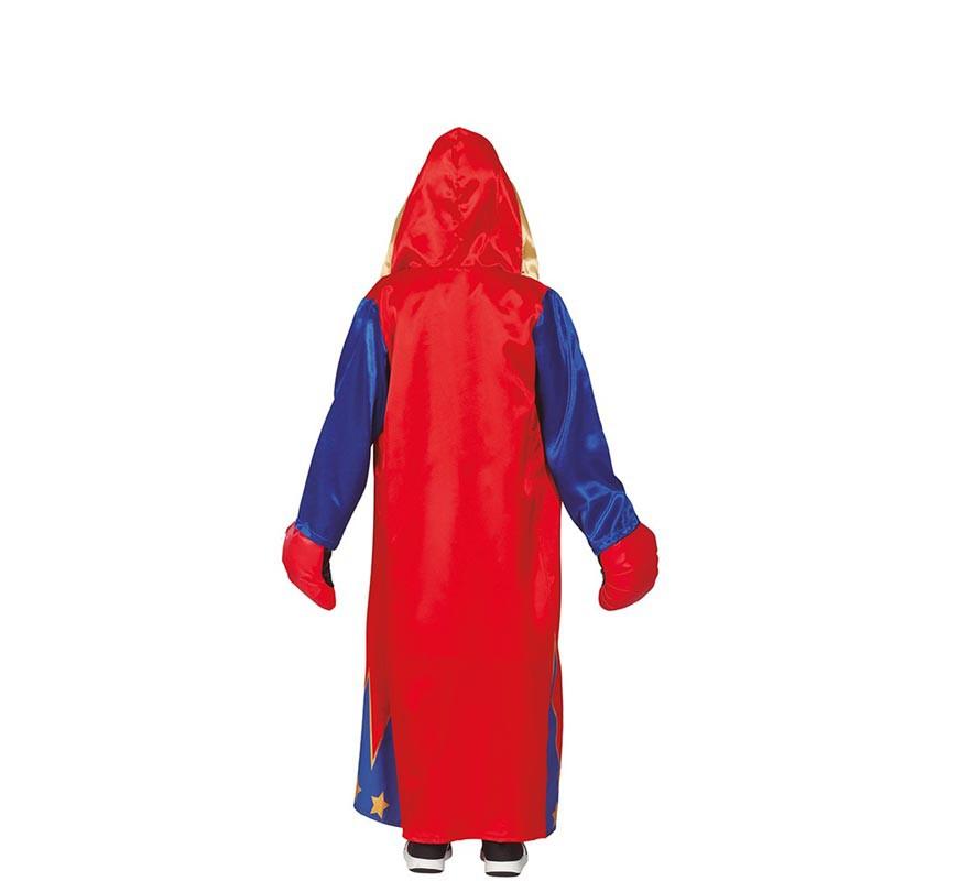 Disfraz de Boxeador Azul y Rojo para niños-B