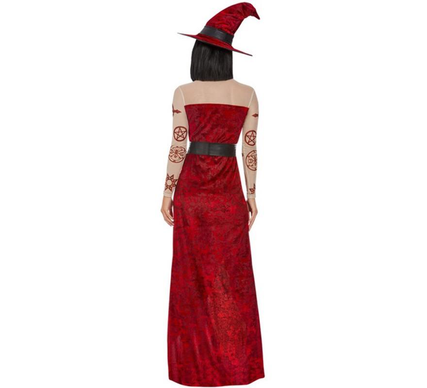 Disfraz de Bruja Ouija roja para mujer-B